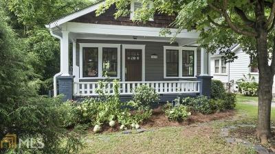 Atlanta Single Family Home New: 1485 Marbut Avenue SE