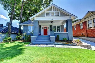 Old Fourth Ward Single Family Home For Sale: 531 Wabash Ave