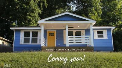 Hapeville Single Family Home Under Contract: 241 Maple St