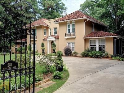 Buckhead Single Family Home For Sale: 281 W Paces Ferry Rd