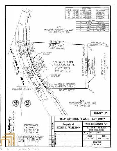 Henry County Commercial For Sale: 332 E Atlanta Rd