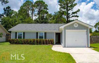 Kingsland GA Single Family Home Under Contract: $128,900