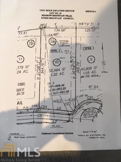 Stone Mountain Residential Lots & Land For Sale: 1545 Mountain Shadow Trl
