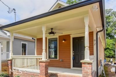 Old Fourth Ward Single Family Home For Sale: 92 Bradley St