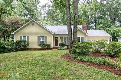 Alpharetta Single Family Home Under Contract: 215 Shady Grove Ln