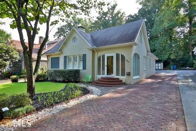 Virginia Highland Single Family Home For Sale: 1009 N Virginia Avenue NE