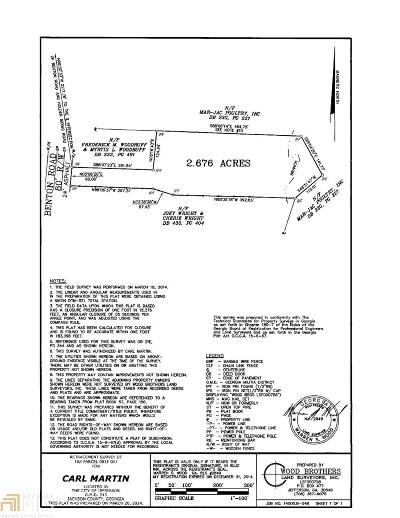 Jefferson Residential Lots & Land For Sale: 7 Benton Rd