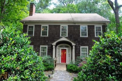 Druid Hills Single Family Home For Sale: 1111 Clifton Rd