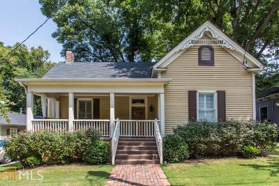 Atlanta Single Family Home New: 822 Kirkwood Ave