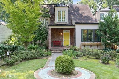 Atlanta Single Family Home New: 845 Ponce De Leon Ter