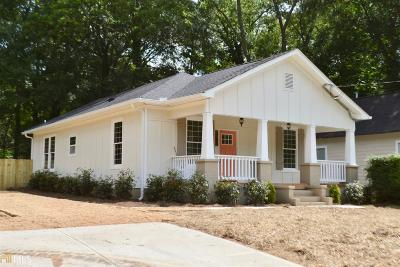 Atlanta Single Family Home New: 1704 Evans