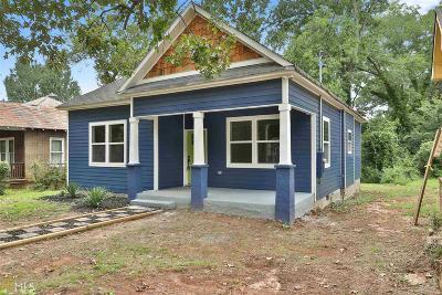 Atlanta Single Family Home New: 1719 Evans Drive SW
