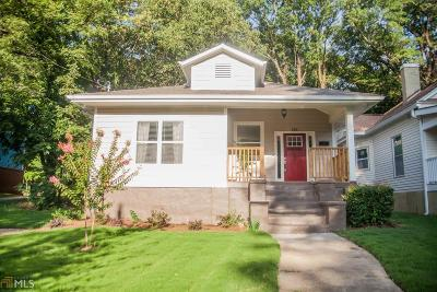 Atlanta Single Family Home New: 318 Holderness Street