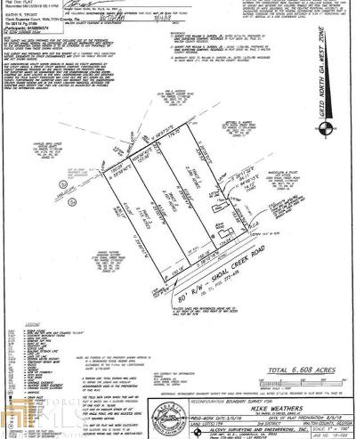 Monroe Residential Lots & Land Under Contract: Shoal Creek Rd