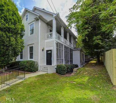 Old Fourth Ward Condo/Townhouse For Sale: 601 Irwin St