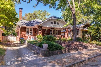 Old Fourth Ward Single Family Home For Sale: 734 Ponce De Leon Ct