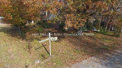 Lithonia Single Family Home For Sale: 1850 Phillips Rd