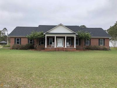 Brooklet Single Family Home For Sale: 1701 Clevy Deloach Rd