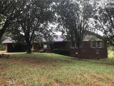 Elberton GA Single Family Home For Sale: $55,000