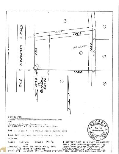 Tucker Residential Lots & Land For Sale: 2979 Old Norcross Tucker Rd