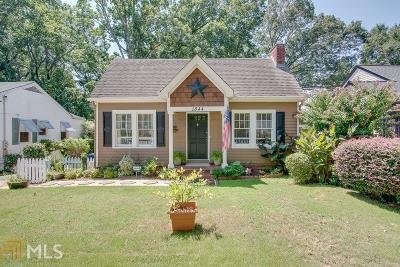 Fulton County Single Family Home Under Contract: 1844 Spring Ave