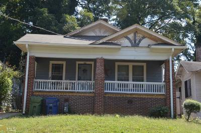 Atlanta Single Family Home New: 970 Ashby Grv