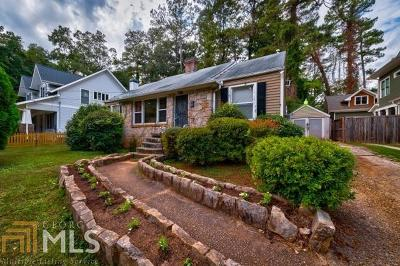 Decatur Single Family Home For Sale: 1027 S Candler St