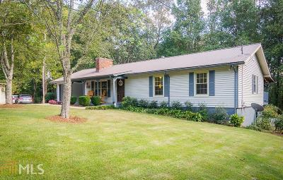 Dawsonville Single Family Home Under Contract: 1246 Thompson Rd