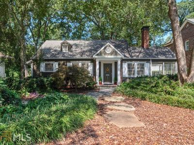 Virginia Highland Single Family Home For Sale: 824 Ponce De Leon Ter