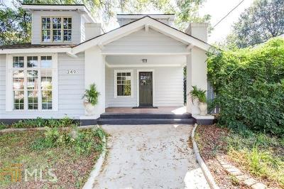 Old Fourth Ward Single Family Home For Sale: 349 Irwin St