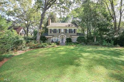 Druid Hills Single Family Home For Sale: 1303 Briarcliff Rd