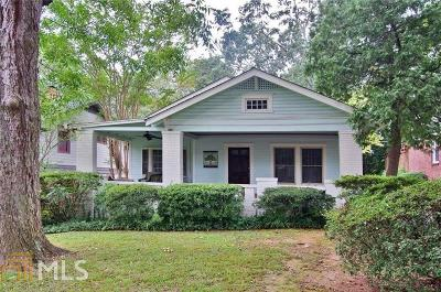 Decatur Single Family Home Under Contract: 215 Jefferson Pl