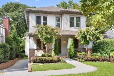 Atlanta Single Family Home New: 794 Ponce De Leon Terrace NE