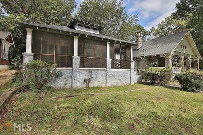 Atlanta Single Family Home New: 649 Brookline St