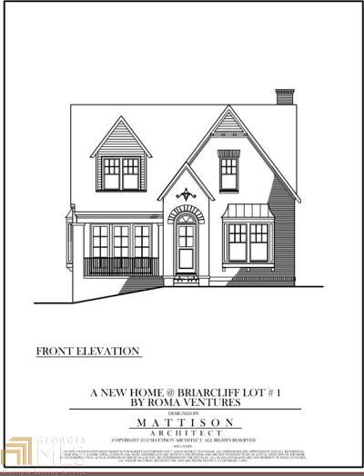 Atlanta Single Family Home New: 1383 Briarcliff Rd