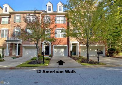 Peachtree City Condo/Townhouse For Sale: 12 American Walk