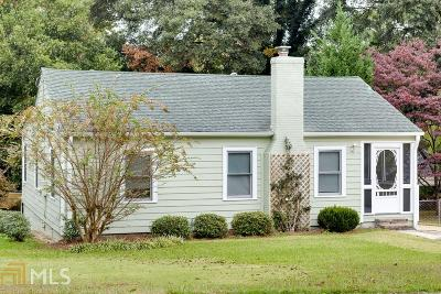 Hapeville Single Family Home Under Contract: 285 Birch St