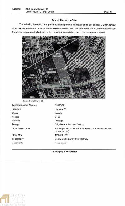 Lawrenceville Residential Lots & Land For Sale: 2895 Lawrenceville Hwy