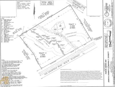 Loganville Residential Lots & Land New: 999 Old Loqanville Rd