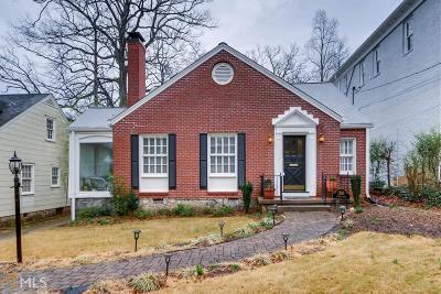Virginia Highland Single Family Home For Sale: 1191 Lanier Blvd