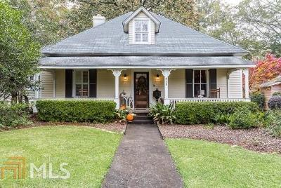 Historic Marietta Single Family Home Under Contract: 412 Campbell Hill St