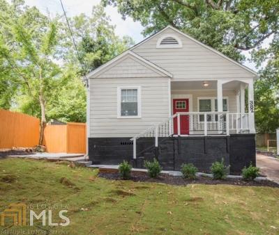 Atlanta Single Family Home New: 382 Sawtell Ave