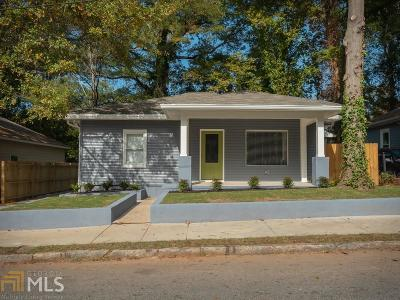 Atlanta Single Family Home New: 1019 Parsons Street SW