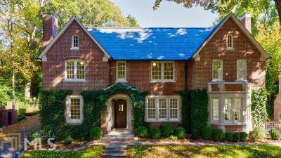 Buckhead Single Family Home For Sale: 2533 Habersham Rd