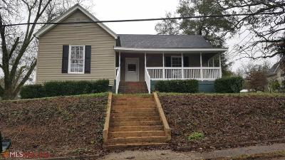 Coweta County Single Family Home Under Contract: 123 Griffin St