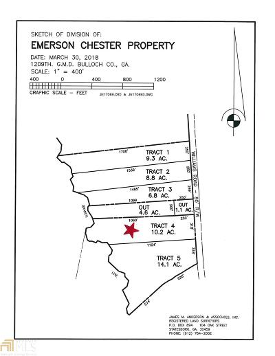 Statesboro Residential Lots & Land For Sale: Williams Rd #Lot 4