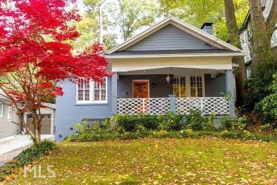 Atlanta Single Family Home For Sale: 2419 Glenwood Dr