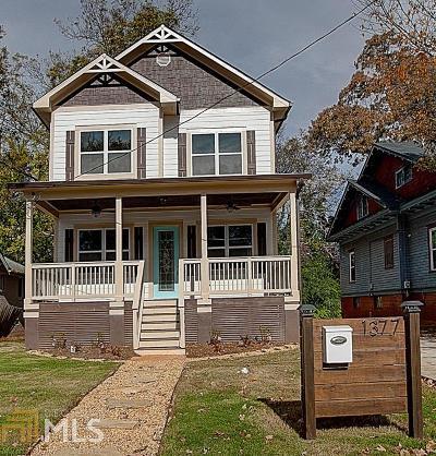 Atlanta Single Family Home New: 1377 Lucile