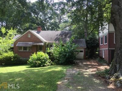 Decatur Single Family Home For Sale: 1022 S McDonough St