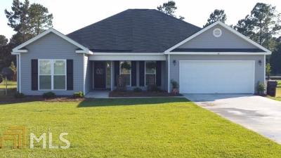 Statesboro Single Family Home For Sale: 148 Stonebrook Way